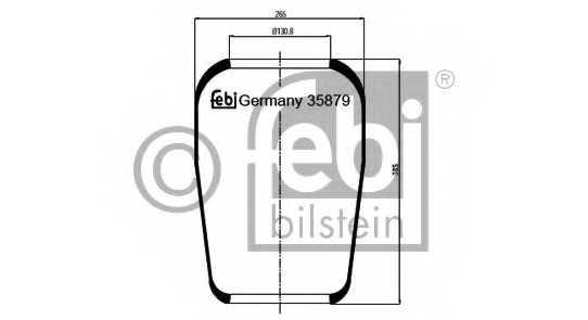 Кожух пневматической рессоры FEBI BILSTEIN 35879 - изображение