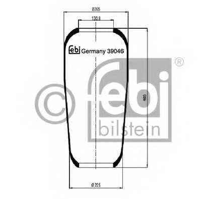 Кожух пневматической рессоры FEBI BILSTEIN 39046 - изображение