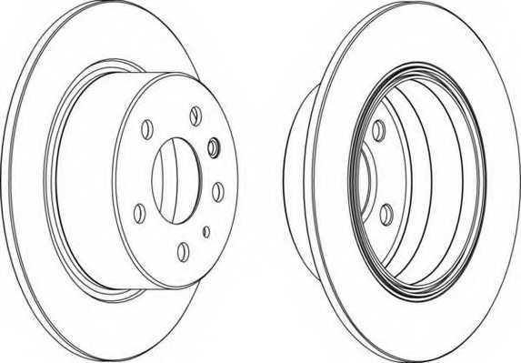 Тормозной диск FERODO DDF003 - изображение