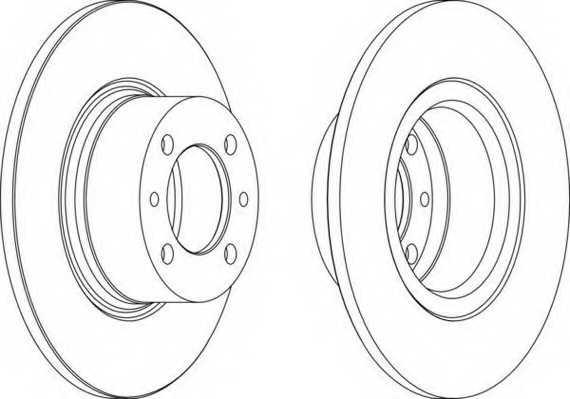 Тормозной диск FERODO DDF035 - изображение