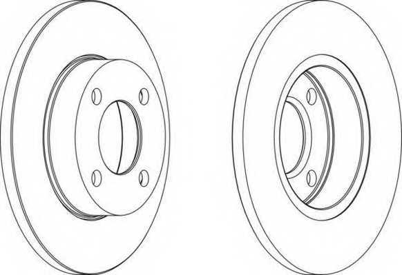 Тормозной диск FERODO DDF048 - изображение