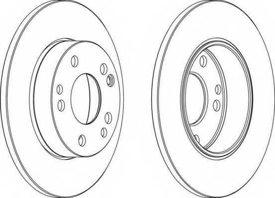 Тормозной диск FERODO DDF053 - изображение