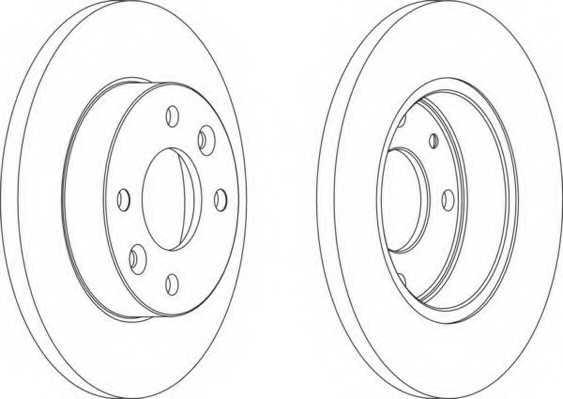 Тормозной диск FERODO DDF055 - изображение