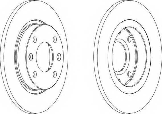 Тормозной диск FERODO DDF059 - изображение