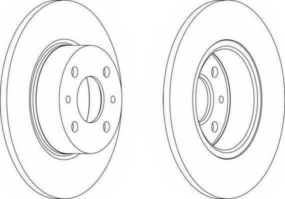 Тормозной диск FERODO DDF066 - изображение