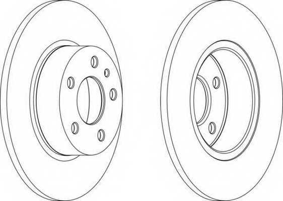 Тормозной диск FERODO DDF067 - изображение