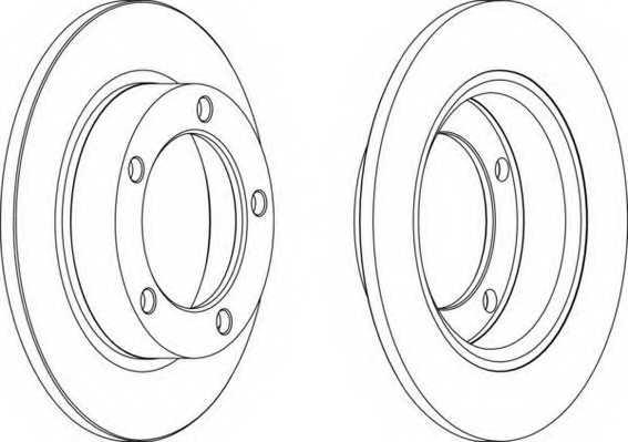 Тормозной диск FERODO DDF092 - изображение