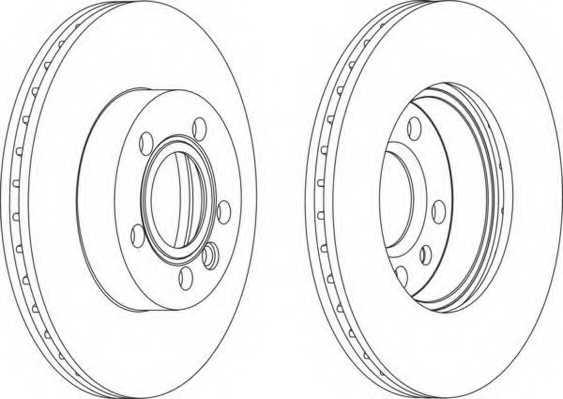 Тормозной диск FERODO DDF1010 - изображение