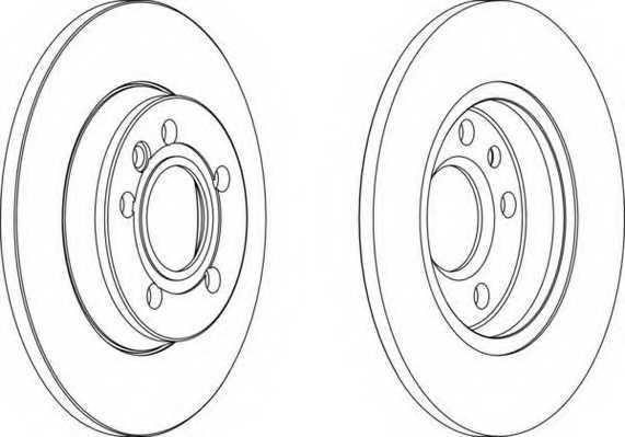 Тормозной диск FERODO DDF1012 - изображение