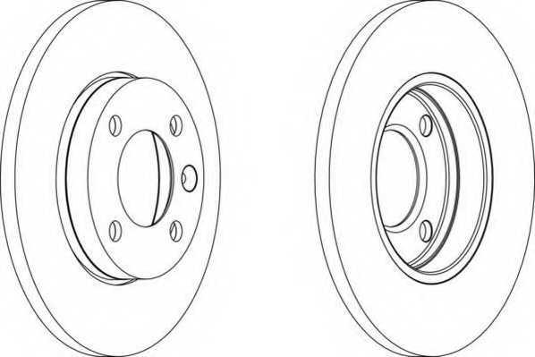 Тормозной диск FERODO DDF103 - изображение