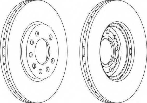 Тормозной диск FERODO DDF1042 - изображение