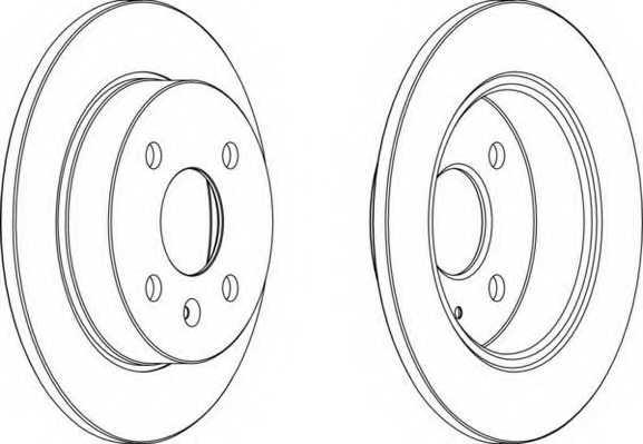 Тормозной диск FERODO DDF1043 - изображение