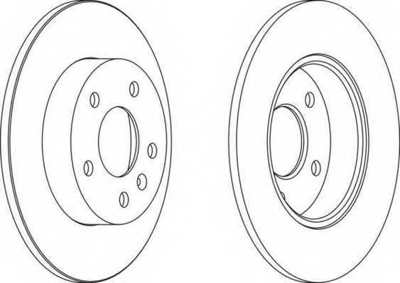 Тормозной диск FERODO DDF1044 - изображение