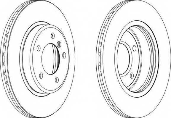 Тормозной диск FERODO DDF1066 - изображение