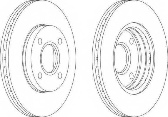 Тормозной диск FERODO DDF1072 - изображение