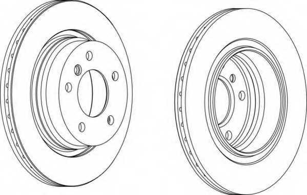 Тормозной диск FERODO DDF1073 - изображение