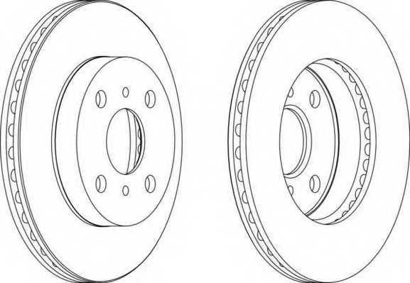 Тормозной диск FERODO DDF1084 - изображение