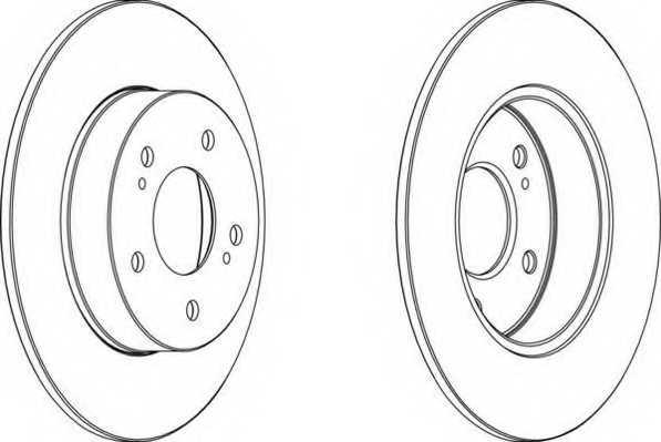 Тормозной диск FERODO DDF1110 - изображение