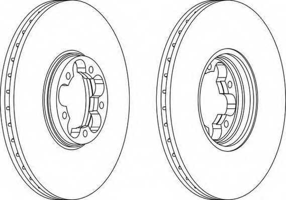Тормозной диск FERODO DDF1112 - изображение