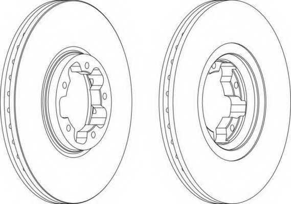 Тормозной диск FERODO DDF1113 - изображение
