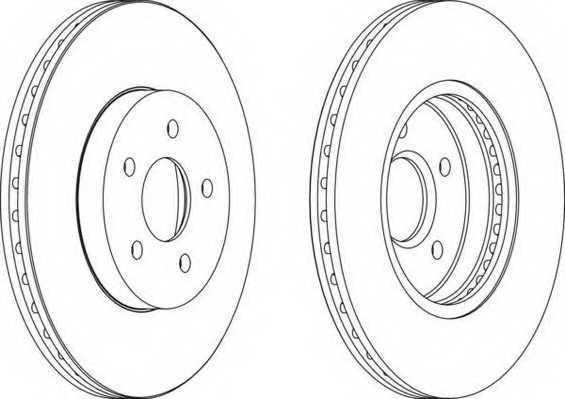 Тормозной диск FERODO DDF1125 - изображение