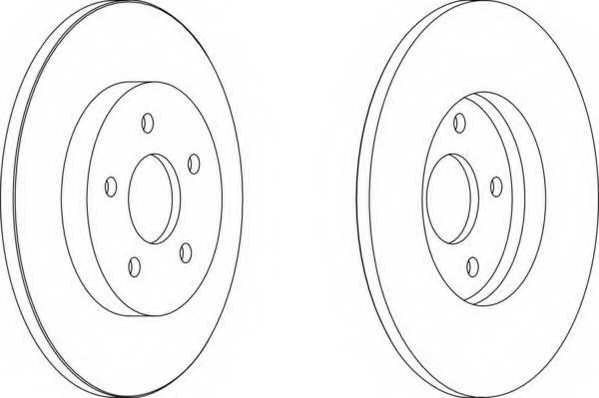 Тормозной диск FERODO DDF1126 - изображение