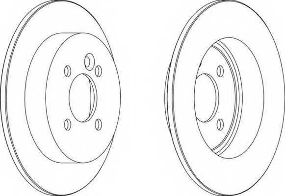 Тормозной диск FERODO DDF1128 - изображение