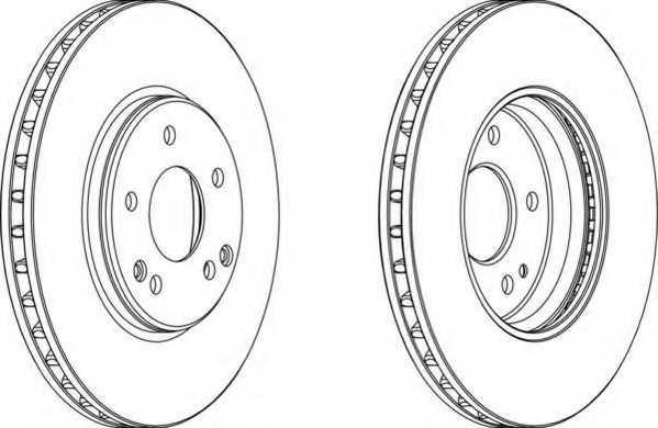 Тормозной диск FERODO DDF1136 - изображение