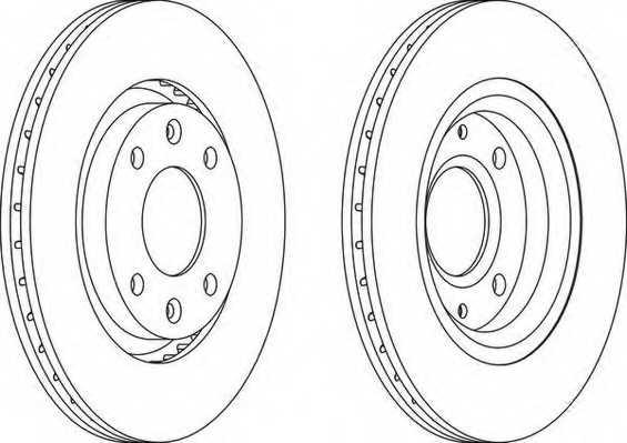 Тормозной диск FERODO DDF1140 - изображение