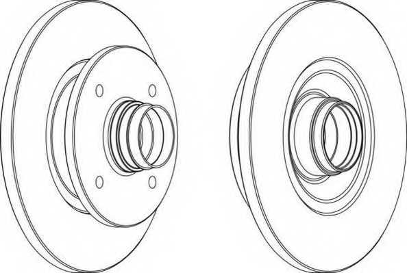 Тормозной диск FERODO DDF114-1 - изображение