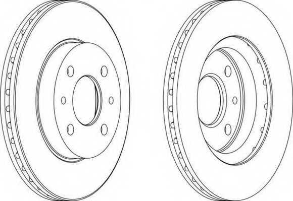 Тормозной диск FERODO DDF1142 - изображение