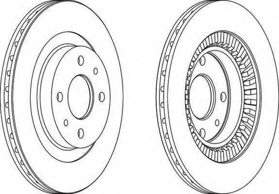 Тормозной диск FERODO DDF1147 - изображение