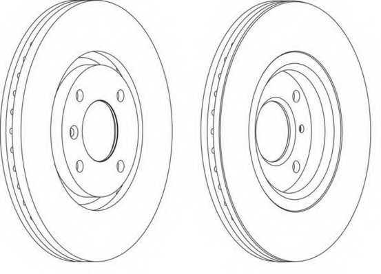 Тормозной диск FERODO DDF1152 - изображение
