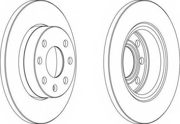 Тормозной диск FERODO DDF116 - изображение