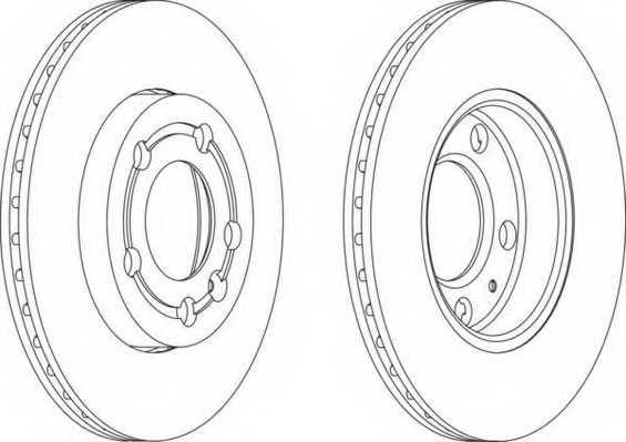 Тормозной диск FERODO DDF1164 - изображение