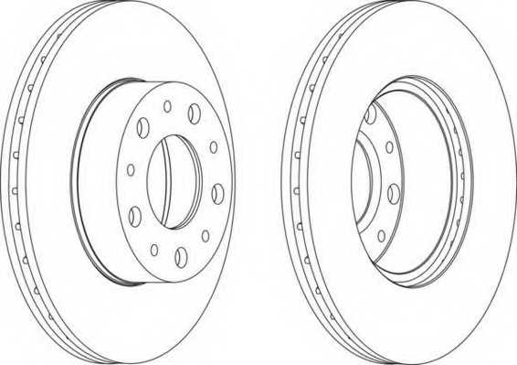 Тормозной диск FERODO DDF1170 - изображение
