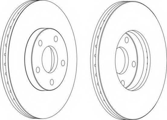 Тормозной диск FERODO DDF1172 - изображение