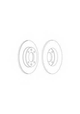 Тормозной диск FERODO DDF1178 - изображение 1