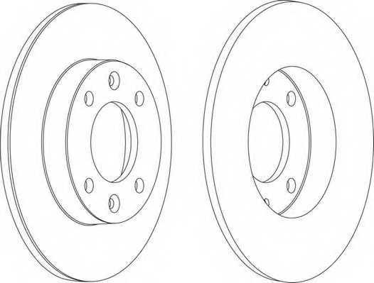 Тормозной диск FERODO DDF1178 - изображение