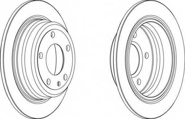 Тормозной диск FERODO DDF120-1 - изображение