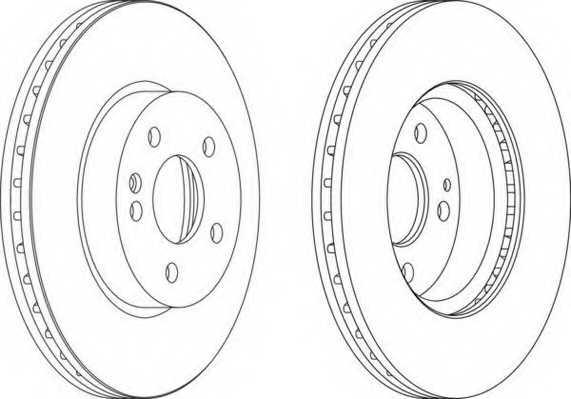 Тормозной диск FERODO DDF1203 - изображение