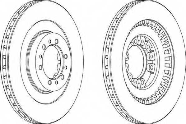 Тормозной диск FERODO DDF1212 - изображение