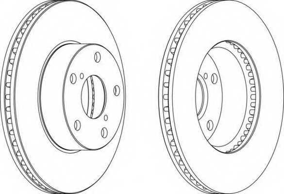 Тормозной диск FERODO DDF1216 - изображение
