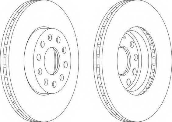 Тормозной диск FERODO DDF1218 - изображение
