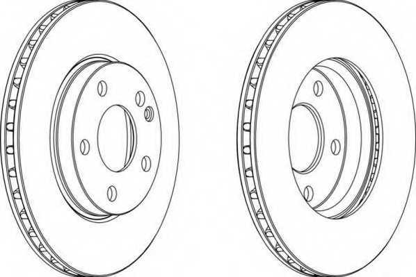 Тормозной диск FERODO DDF1220 - изображение