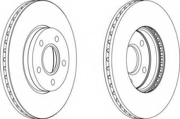 Тормозной диск FERODO DDF1222 - изображение