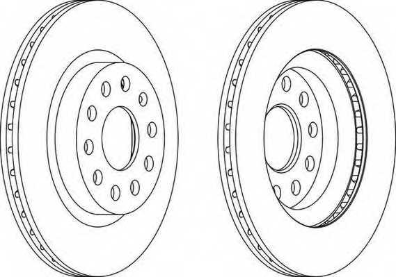 Тормозной диск FERODO DDF1223 - изображение