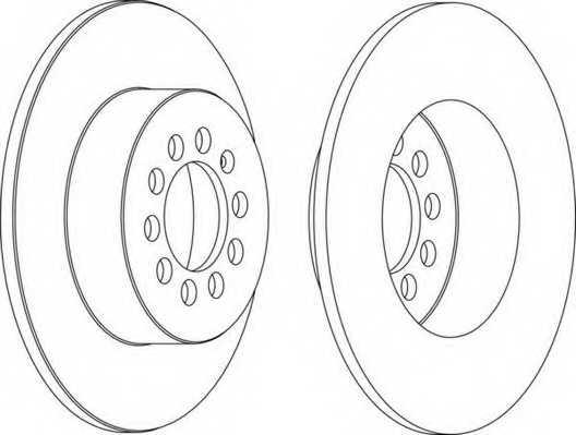 Тормозной диск FERODO DDF1224 - изображение