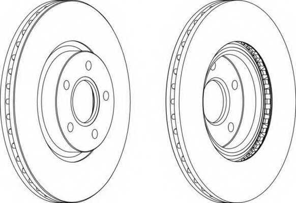 Тормозной диск FERODO DDF1225 - изображение