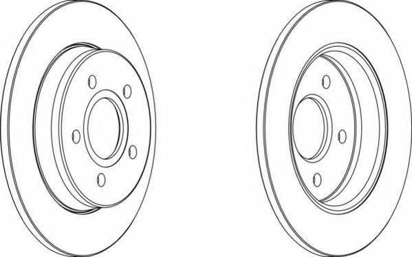 Тормозной диск FERODO DDF1226 - изображение